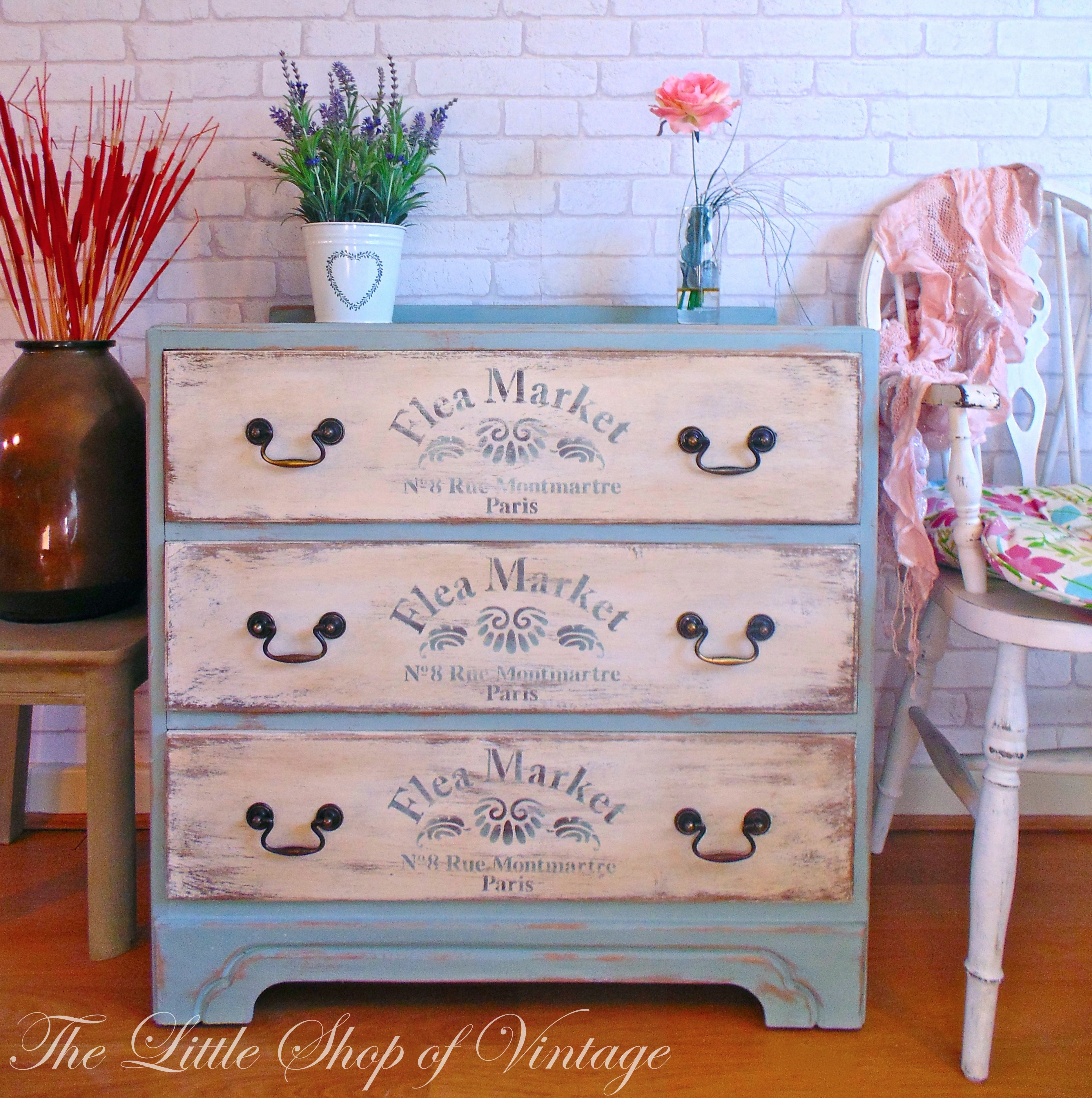 duck egg blue shabby. Gorgeous Shabby Chic Chest Of Drawers Painted In Annie Sloan Duck Egg Blue \u0026 Old White