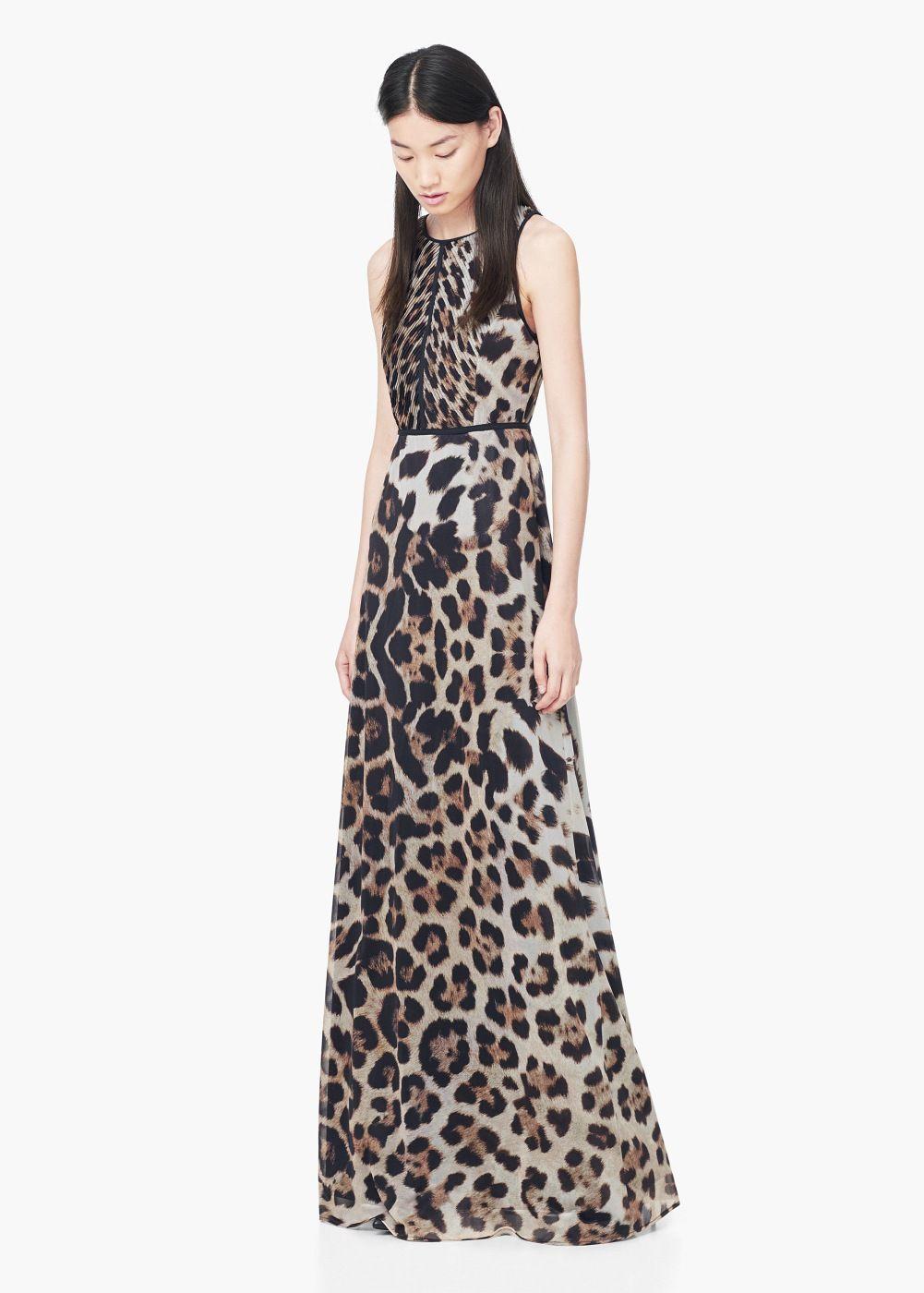 linda apariencia elegante descuento Vestido animal print - Mujer   MANGO   Vestidos de mujer ...