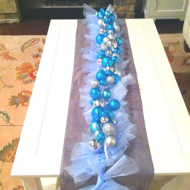 Tulle Garland Ornament Garland Cute Coffee Table Runner Christmas Decor Pinterest