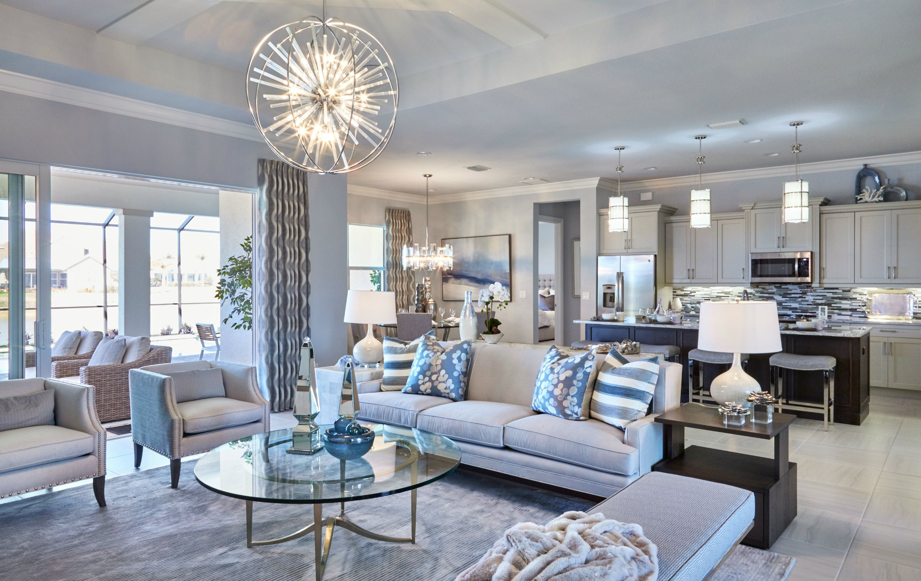 Contemporary Chic Style With An Elegant Color Scheme Of Soft Blues