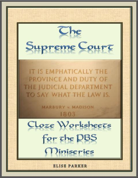 Supreme Court Worksheets And Puzzle Bundle For Entire Series