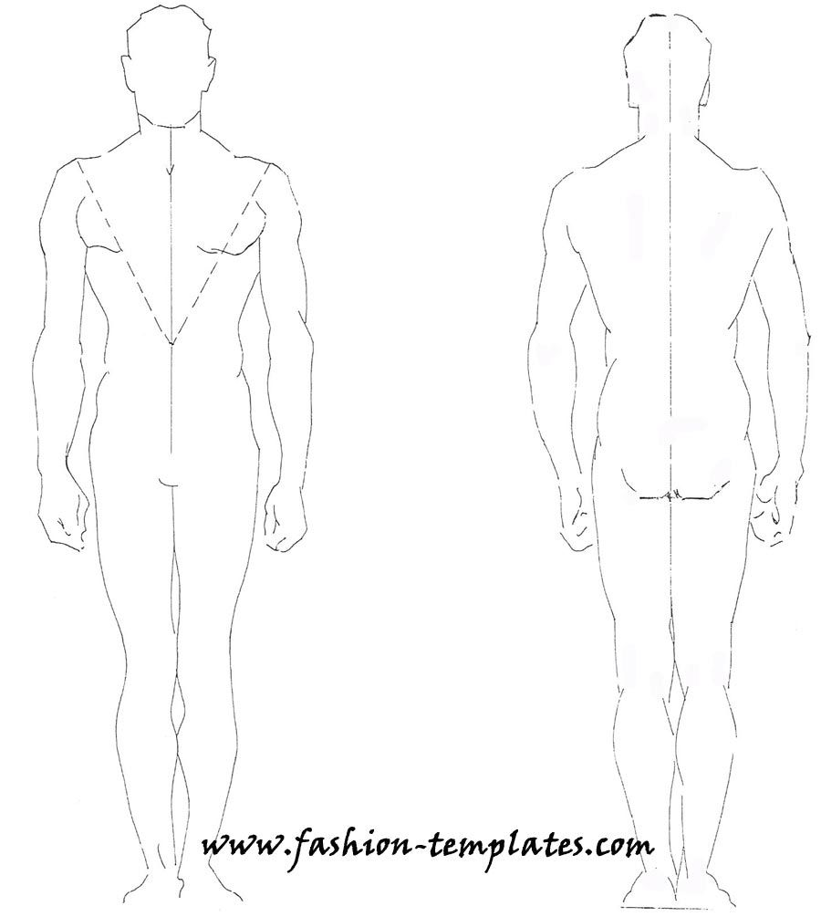 Technical Drawing-Fashion Male by dutoitm.deviantart.com