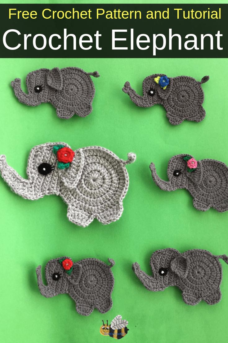 Baby Elephant Crochet Applique Pattern • Kerri's Crochet
