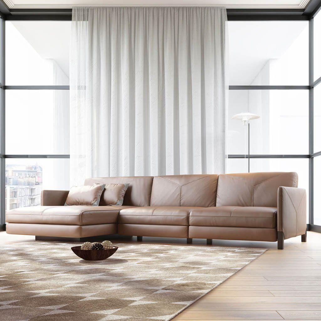 Lafayette sectional sofa left in safari