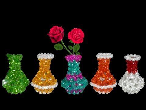 Igla How To Make Beaded Flower Vase Flower Vase Diy