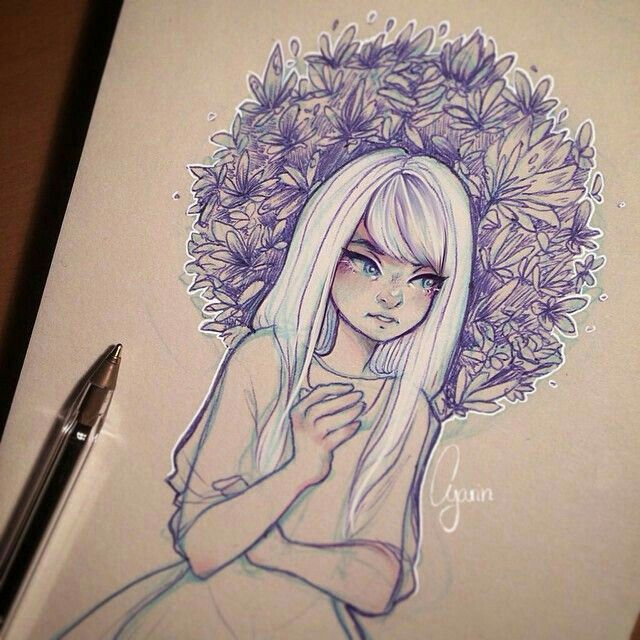 Scribble Drawing Instagram : Pin by ada kudyba on anime pinterest white hair