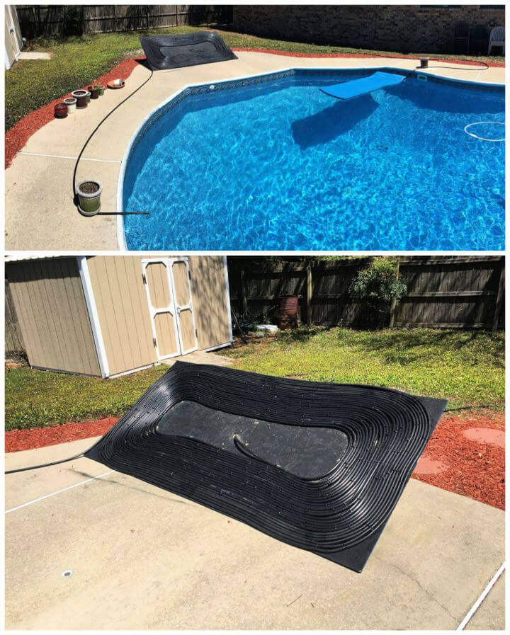 how to heat a pool with solar panels