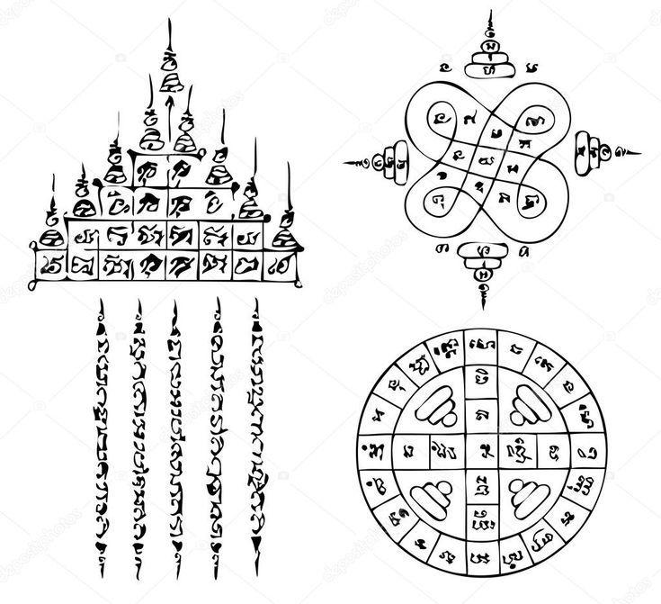 Téléchargez des tatouages vieux thaïlandais libres de