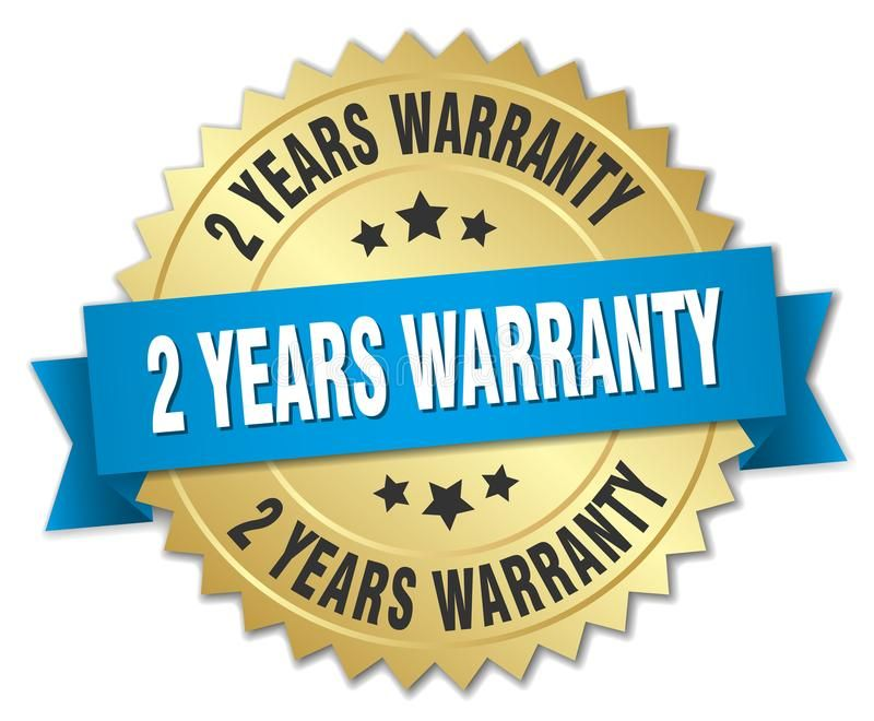 2 Years Warranty Gold Badge With Blue Ribbon Sponsored Gold Warranty Years Ribbon Blue Ad Badge