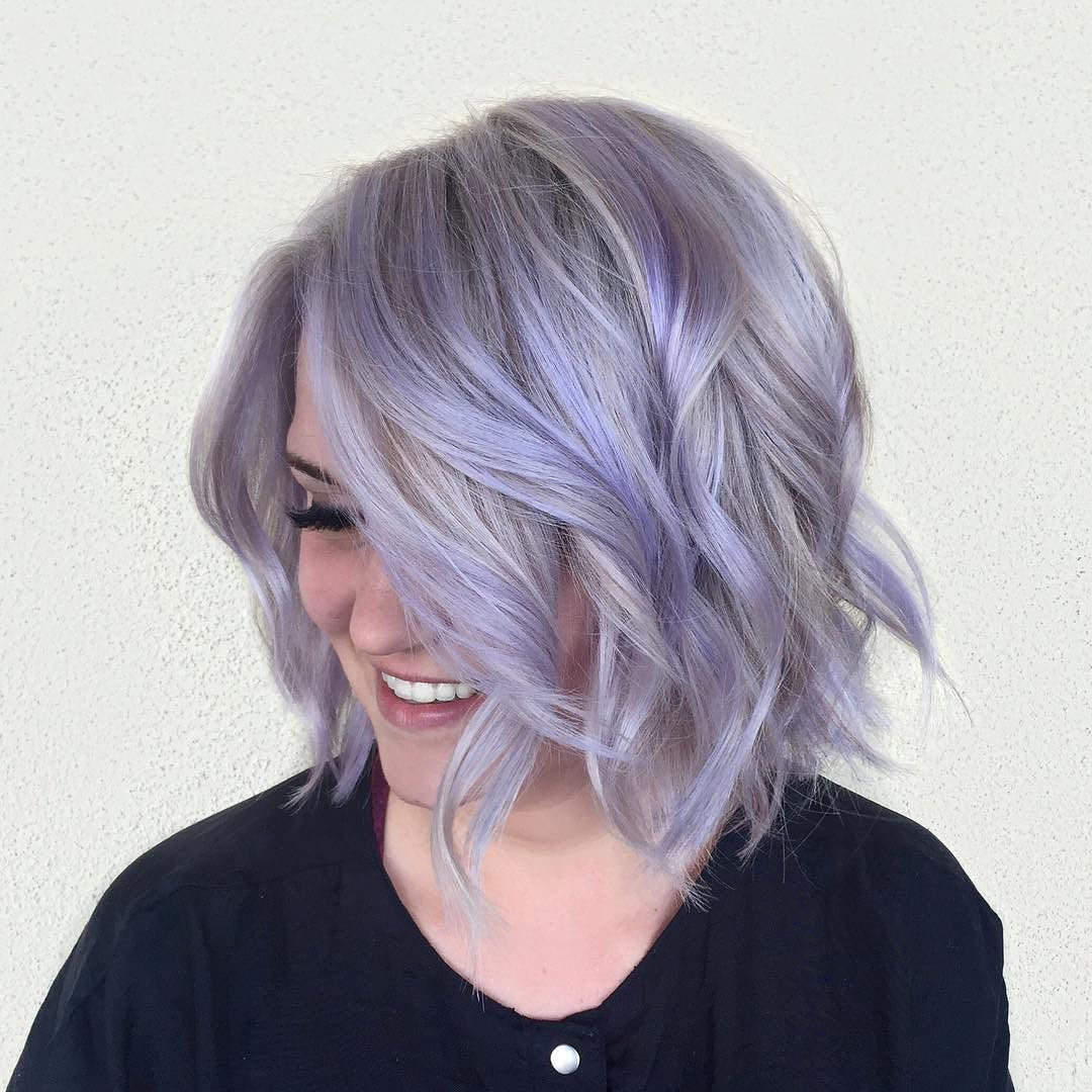 Spiced up her hair with some lavender lavenderhair shorthair