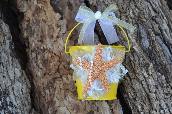 Yellow Beach Wedding Yellow Flower GIrl Beach Wedding by OneFunDay, $29.00