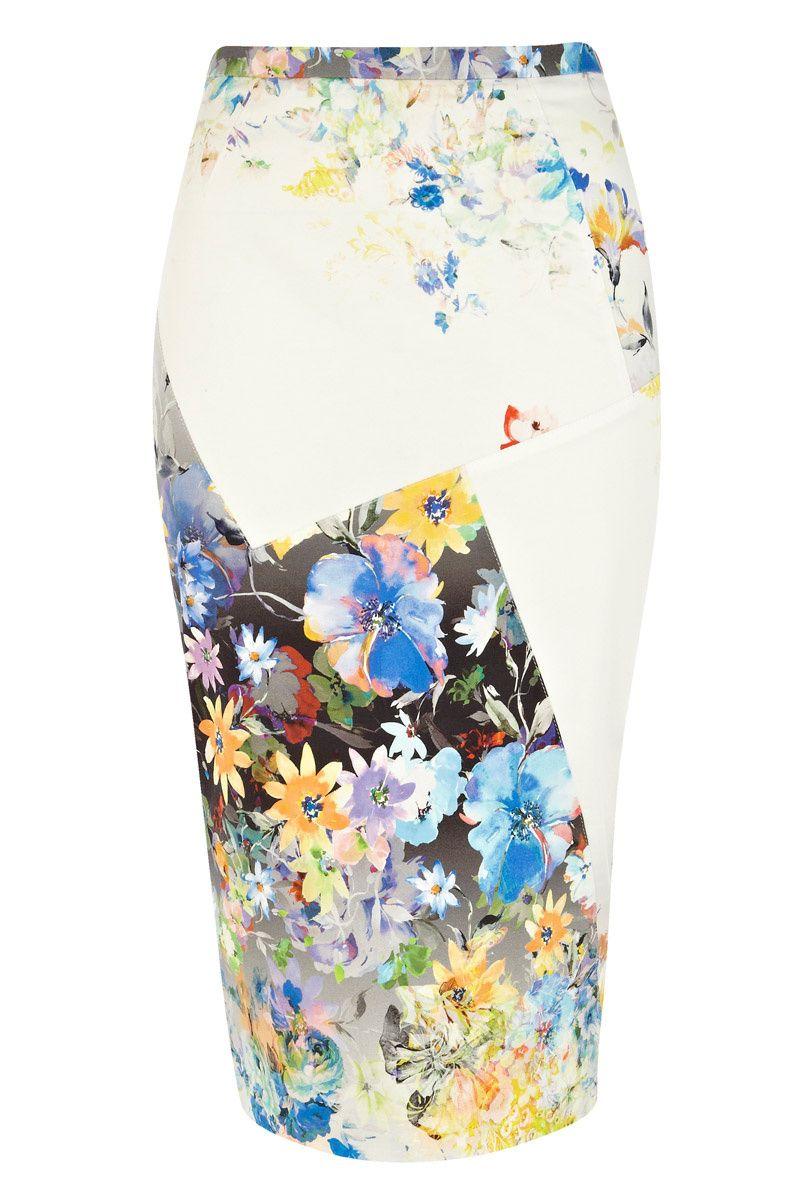 Shopping Dress for less faldas lápiz  Con estampado floral de River Island 40152c699436
