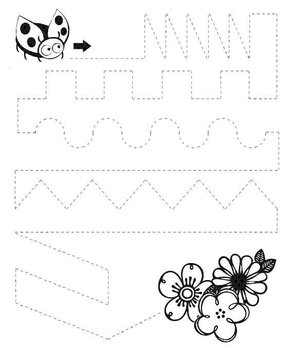 Tipss und Vorlagen: Worksheets for kids - Kindergarten  - tracing -
