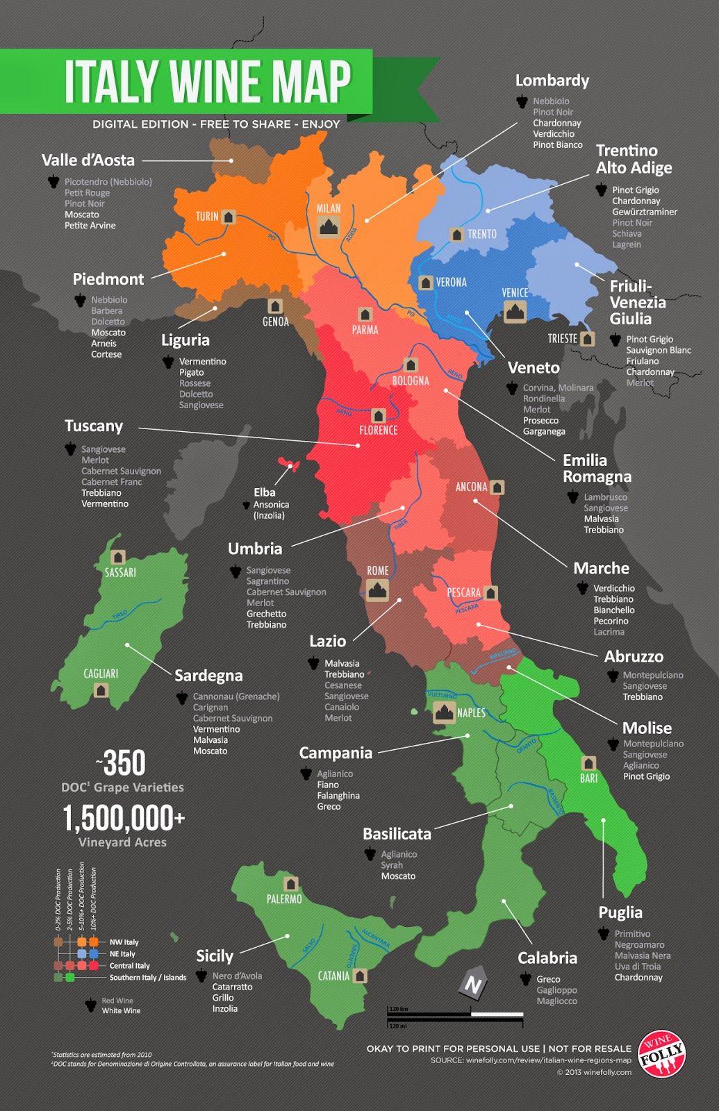 Italian Wine Regions Wine Region Map Wine Map Italy Map