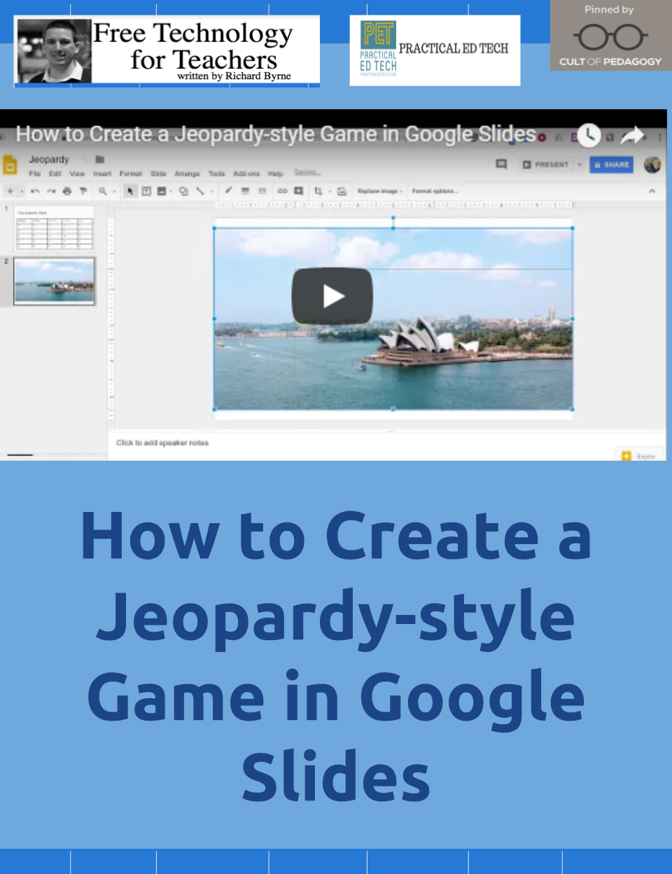 Playing Jeopardy Style Games Is A Still Popular Way To Host Review Sessions In Classrooms You Can Make Your Own That Include Pictures And