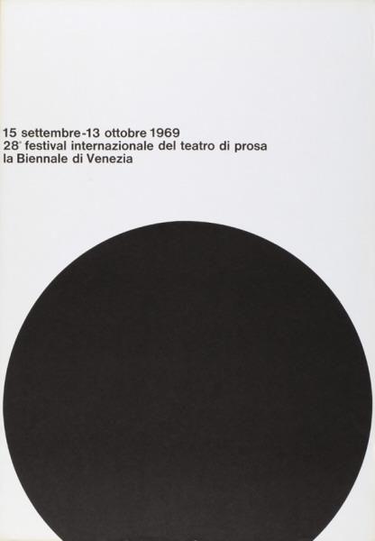 1969 28° festival internazionale del teatro di prosa - la biennale di Venezia
