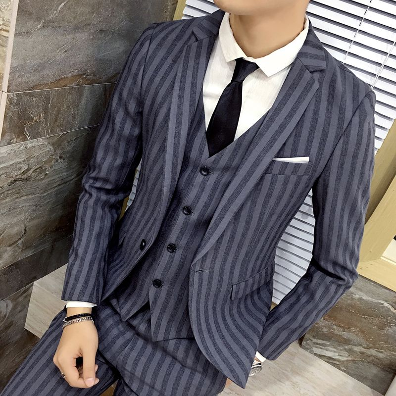 men\'s suits Business casual striped suit jacket Slim Handsome ...