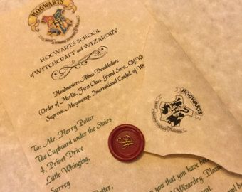 Custom Hogwarts Acceptance Letter.Personalized Hogwarts Acceptance Letter Regular Late