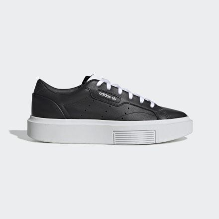 adidas Sleek Super Shoes Black Womens | Black shoes, Shoes