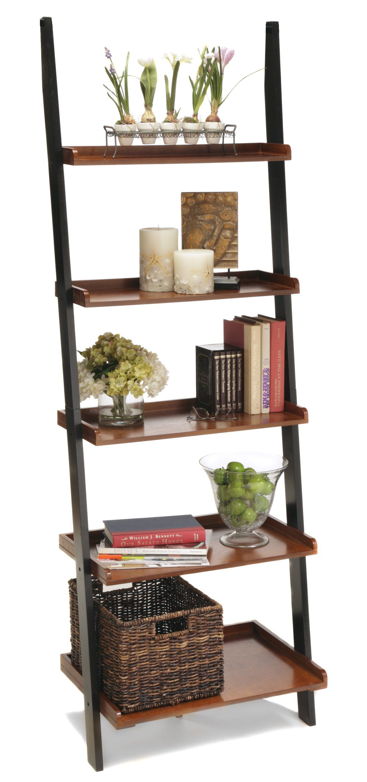 Convenience Concepts 8043391 FC French Country Bookshelf Ladder Natural Amazonca Home Kitchen