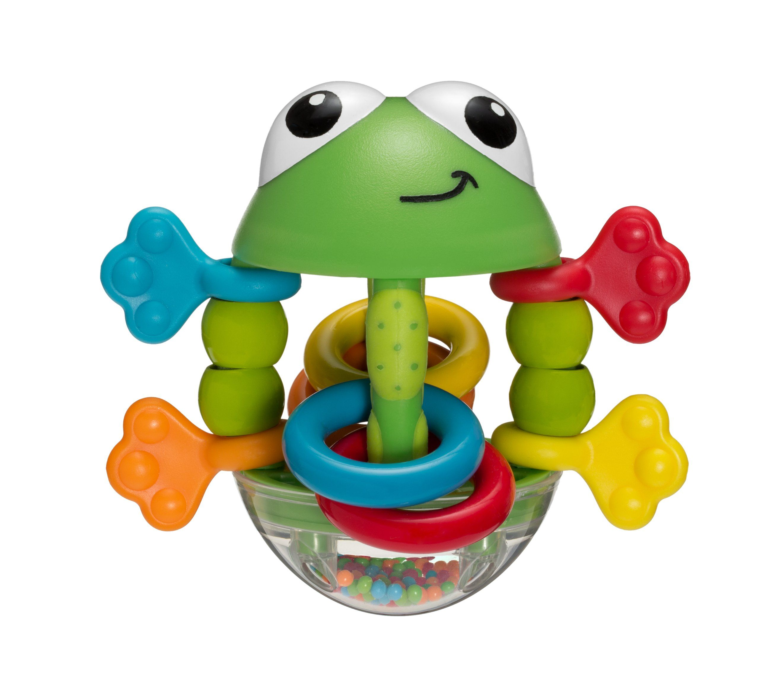 Infantino Flip Flop Frog Rattle Complete With Movable Hands And