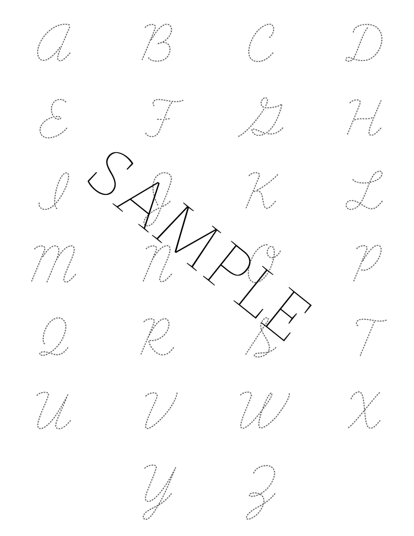 Cursive Handwriting Practice Digital File Homeschooling