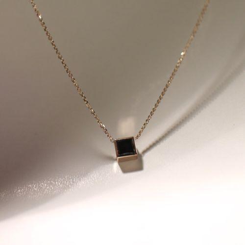 boho necklace diamond shape necklace black necklace Black diamond necklace casual style adjustable chain perfect length bead necklace