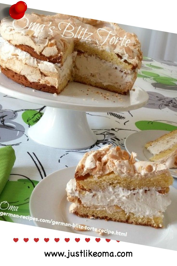 German blitz torte recipe made just like oma torte this german blitz torte is such a quick and easy cake to make great for holidays and birthdays blitz means lightning and this cake is lightning fast to forumfinder Images
