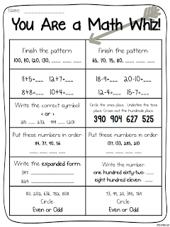 photograph relating to 2nd Grade Math Assessment Printable called Stage into 2nd Quality with Mrs. Lemons: Examination Freebie