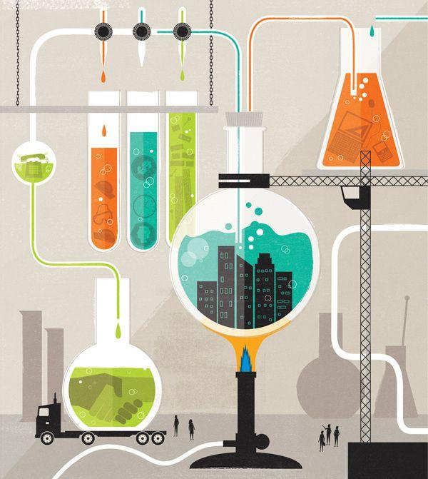 Design Science Journal Cambridge: Infoworks Magazine Illustration By Dale Edwin Murray, Via