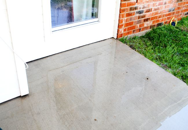 Diy Miracle Concrete Patio Cleaner Concrete Patio Cleaning