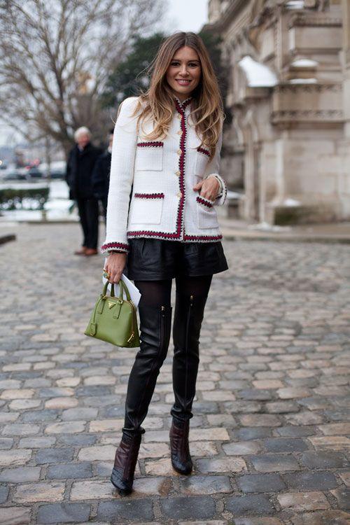 Paris Street Style Couture 2013 - 2013 Haute Couture Parisian Street Style - Harper's…