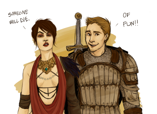 Morrigan and Alistair