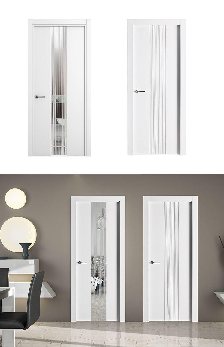 Puerta de interior blanca modelo quevedo de la serie for Modelos de puertas