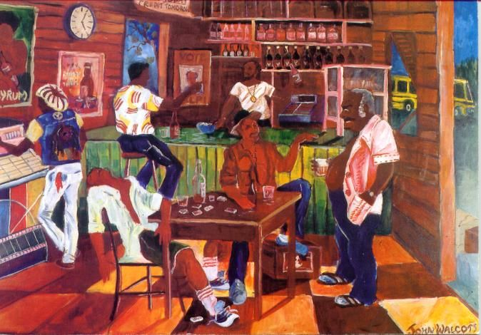 John Walcott The Rum Shop Painting