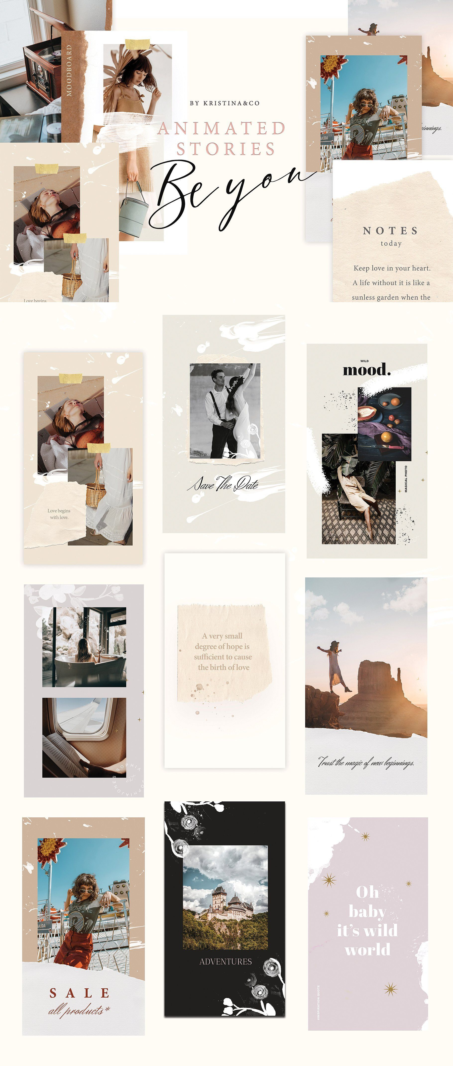Animated Story Be You Instagram Animation Instagram Template Social Media Graphics