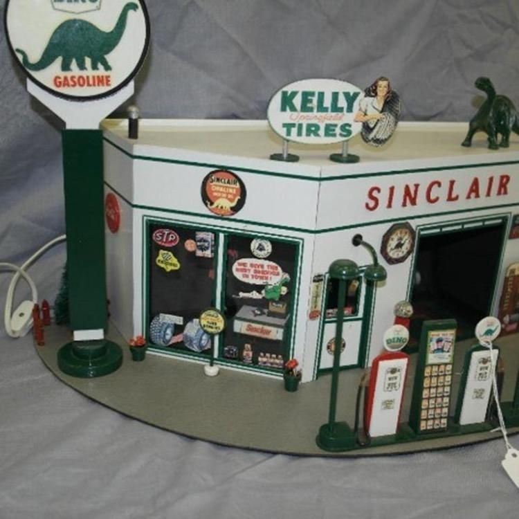 Sinclair Dino Service Station Custom Model Service