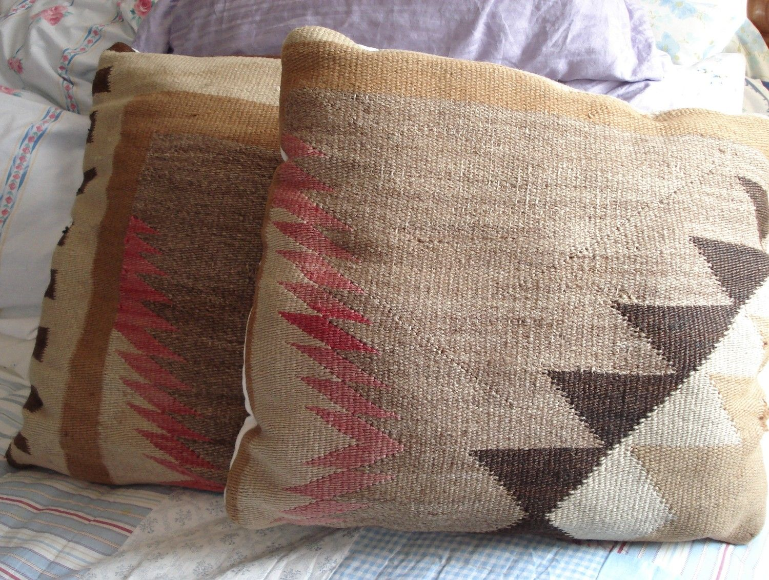 Throw pillow covers made from Native American Rug Blanket   for my ...