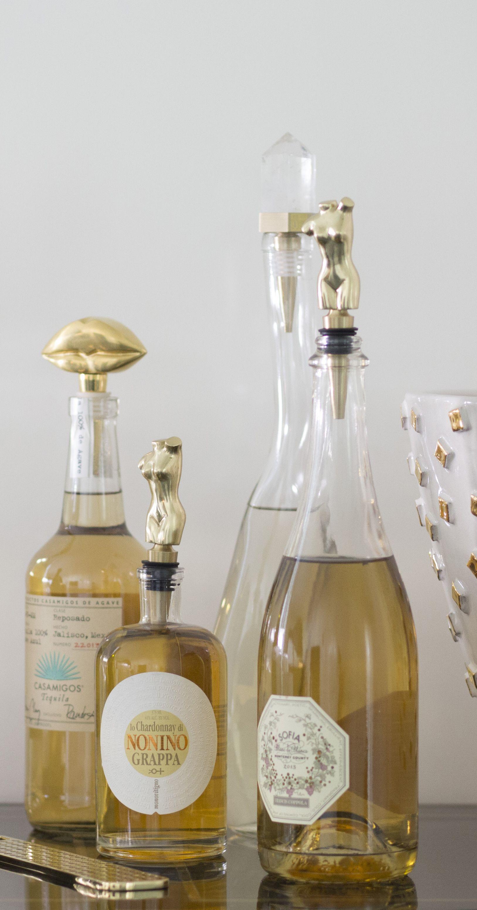 Kelly Wearstler Wine Stopper Hand Sculpted Solid