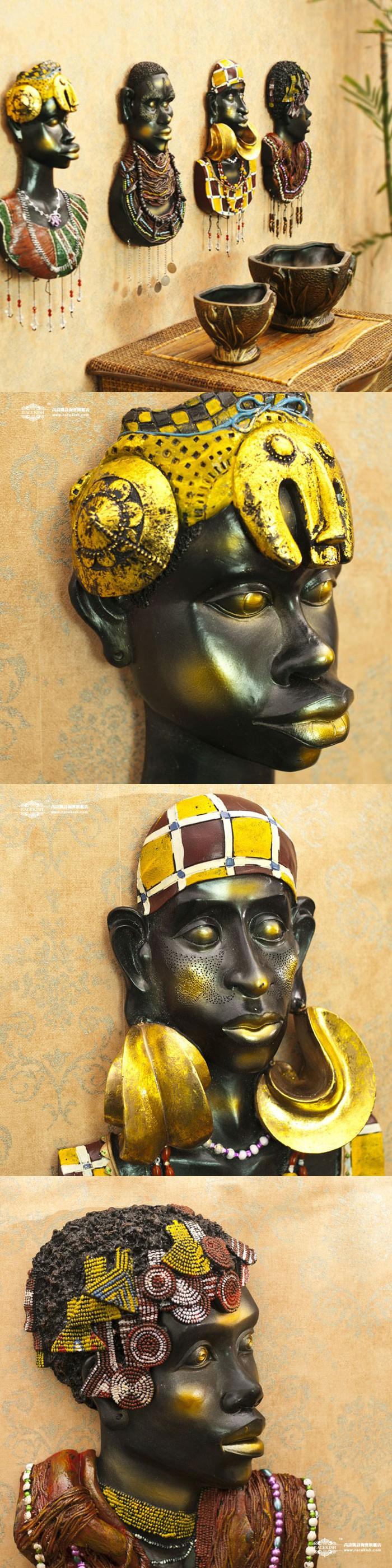Africa earthsongs resin portrait mural creative wall hanging ...