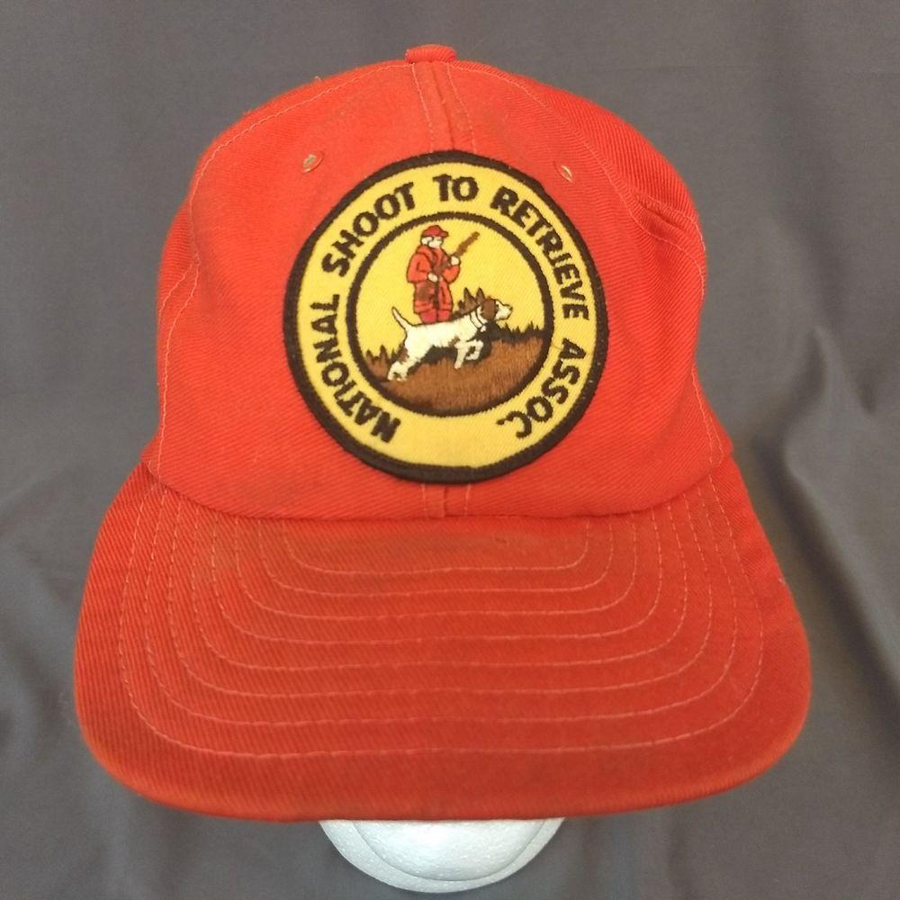 b64e54a7849da National Shoot to Retrieve Association Snapback Hat Baseball Cap Patch USA   LousvilleMFG  BaseballCap
