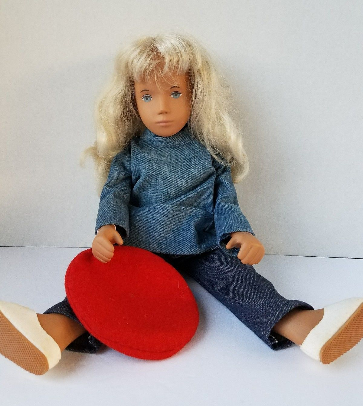Vintage 1970s 110 Sasha Blond Sailing Suit Girl Doll W Box Wrist Bear Red Tag Nice