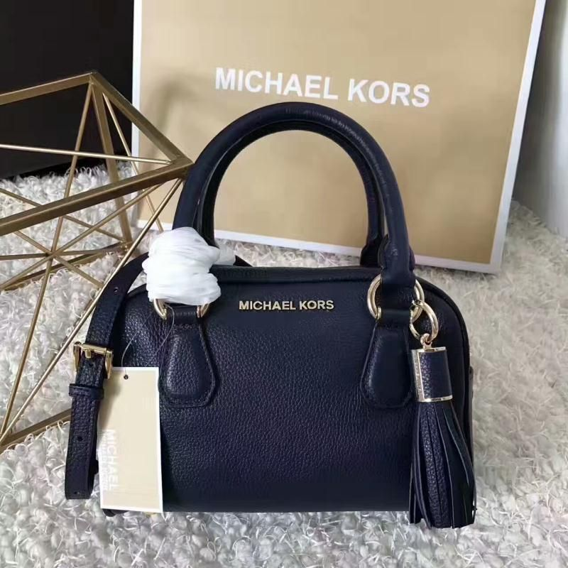 e31cab105c MICHAEL Michael Kors Bedford Small Tassel Leather Satchel Navy Blue ...