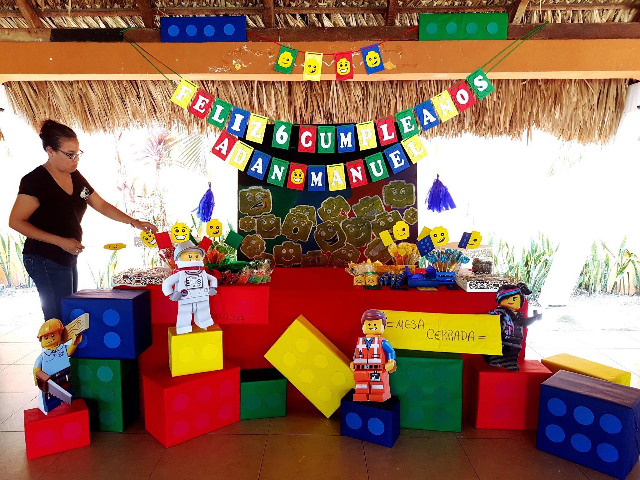 Mesa de postres Lego  Eva Party Scrap  Party Scrap