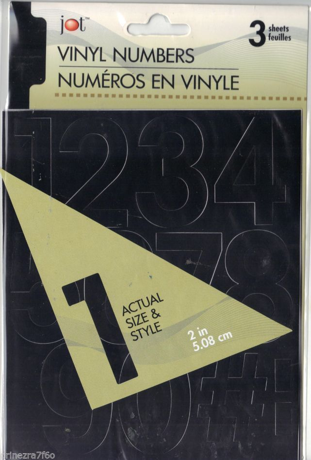 Details About Jot Black 2 Inch Vinyl Peel Stick Numbers New In Pack Back To School Sales Ebay Numbers