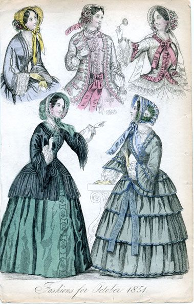 1850 Fashion | Fashions for October 1851
