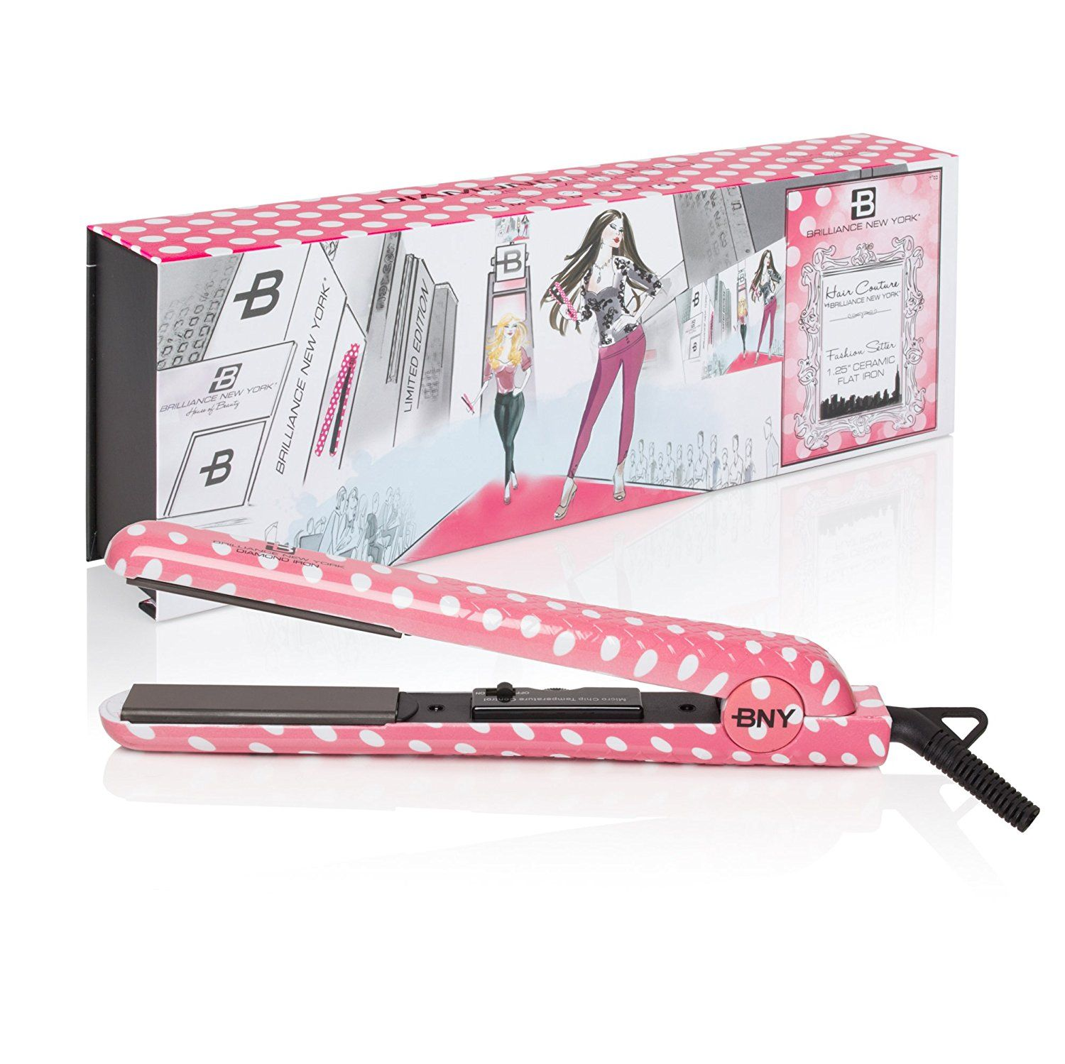 New Hot Tools By Brilliance York 1 25 Flat Iron Hair Straightener Curl