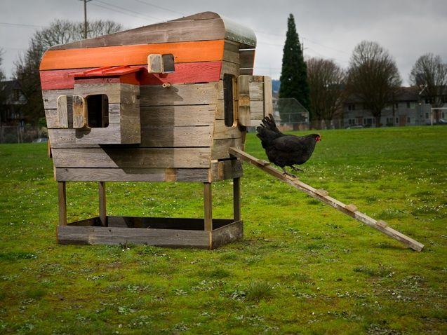 camper f r h hner gallinero pinterest gallineros. Black Bedroom Furniture Sets. Home Design Ideas