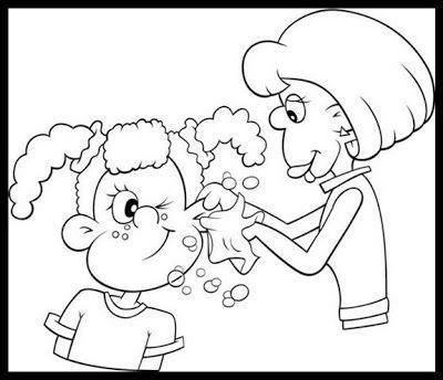 Resultado De Imagen Para Higiene Personal Dibujos Higiene Ninos Dibujos Para Pintar