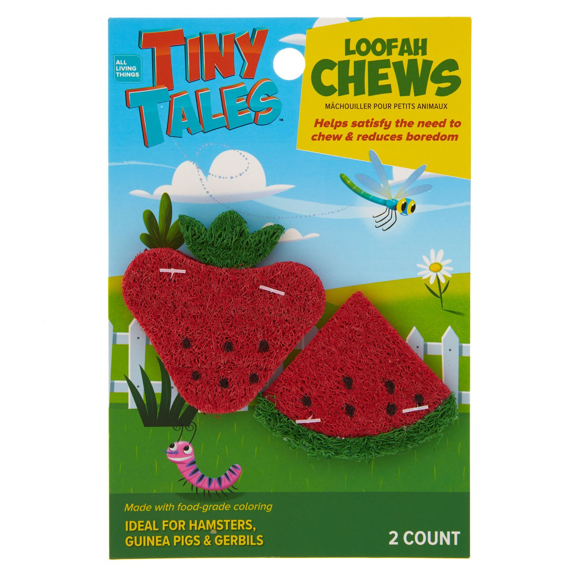 All Living Things Tiny Tales Strawberry Watermelon Small Pet Chews In 2020 Small Pets Pets Hamster Toys